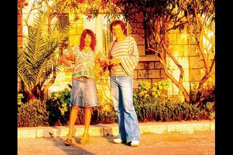 With wife Sheila, 1977